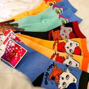 New - 7 Pairs Womens Whimsical Socks